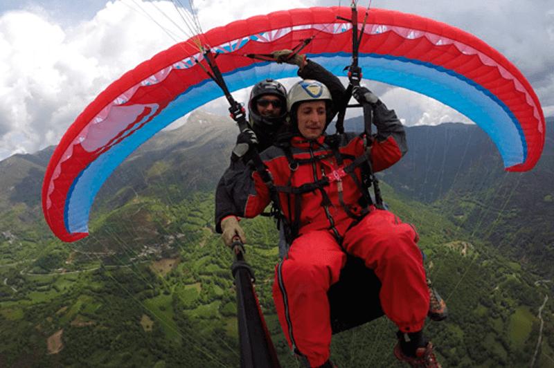 Parapente Biplaza Castejon de Sos, Valle de Benasque, Pirineos